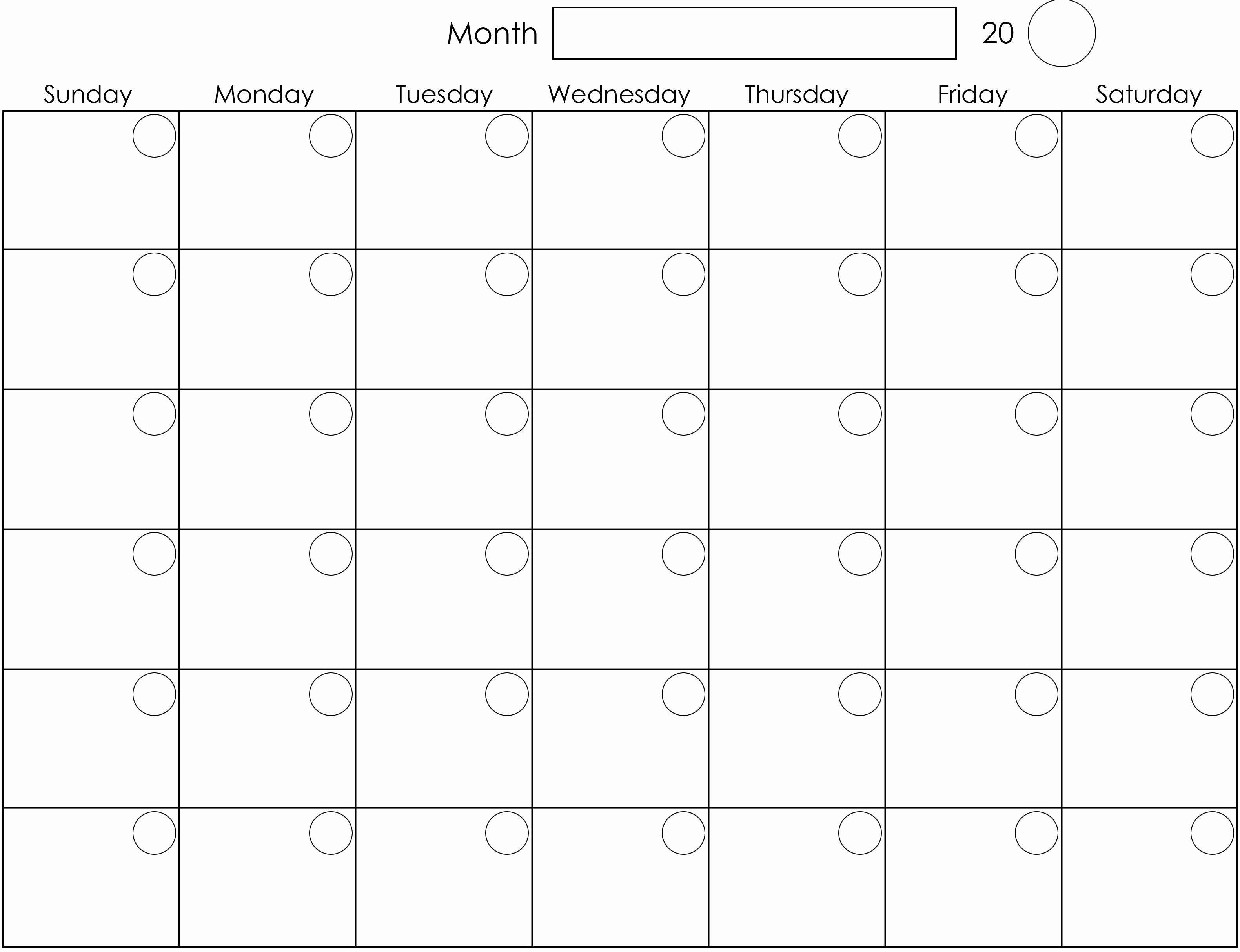 August 2018 Blank Calendar Templates