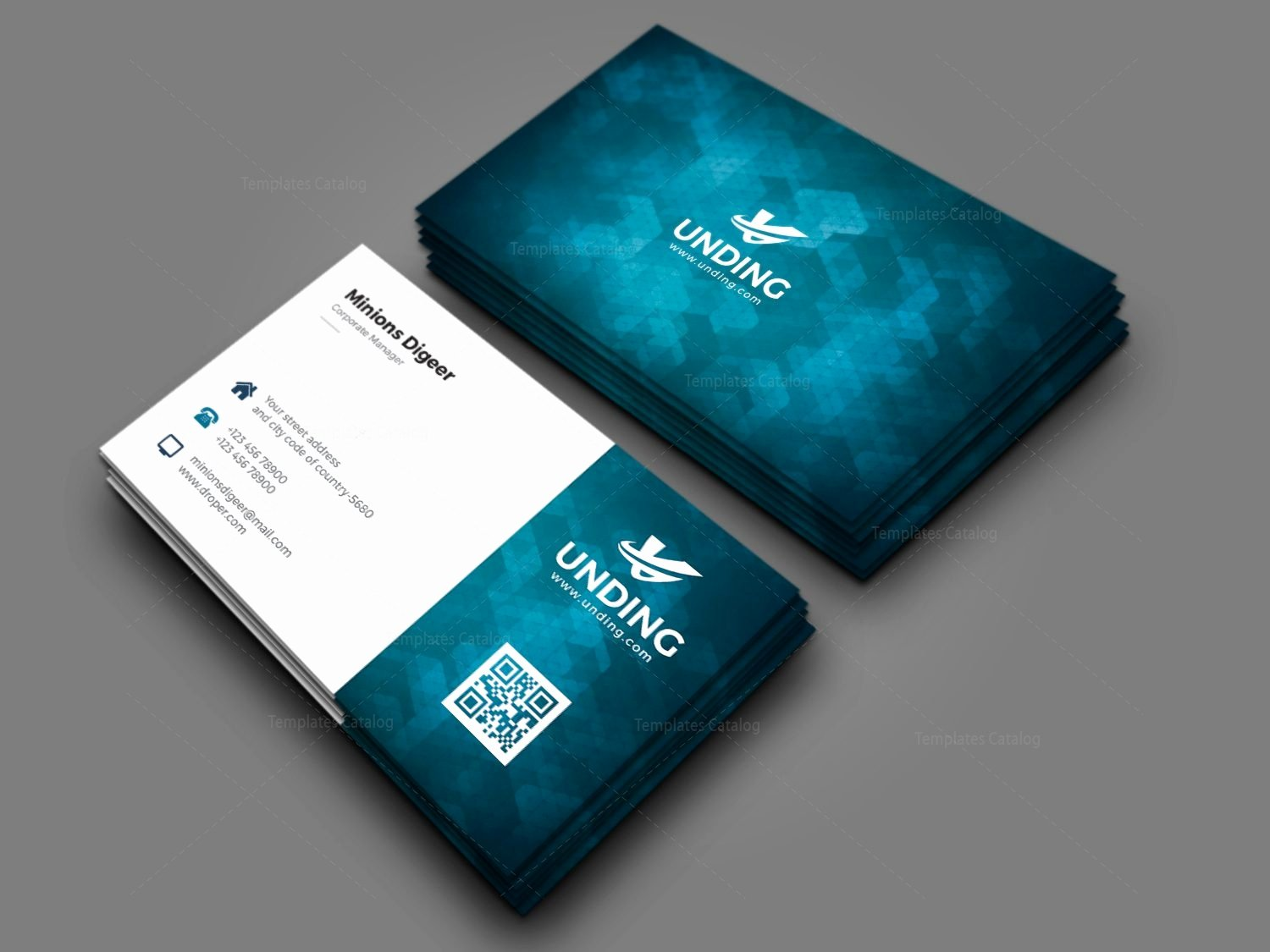 Aurora Professional Corporate Business Card Template