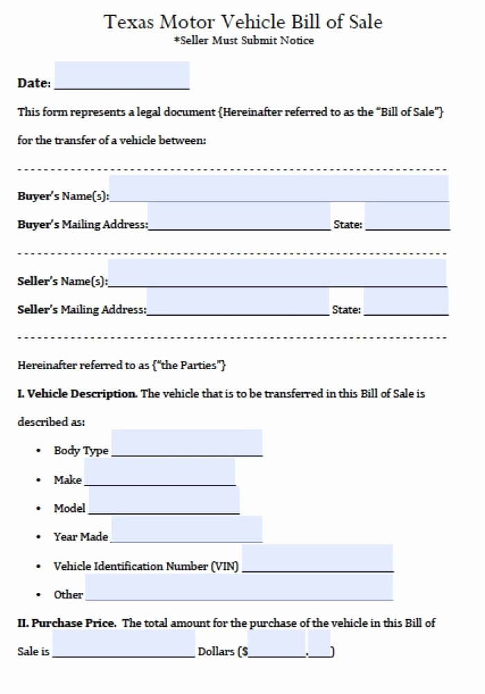 Auto Bill Sale Template Pdf Templates Resume