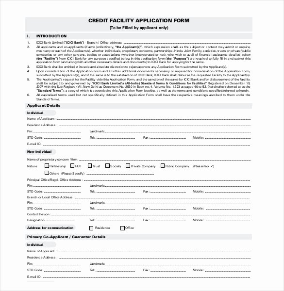 Auto Credit Application Word Doc Bing Images