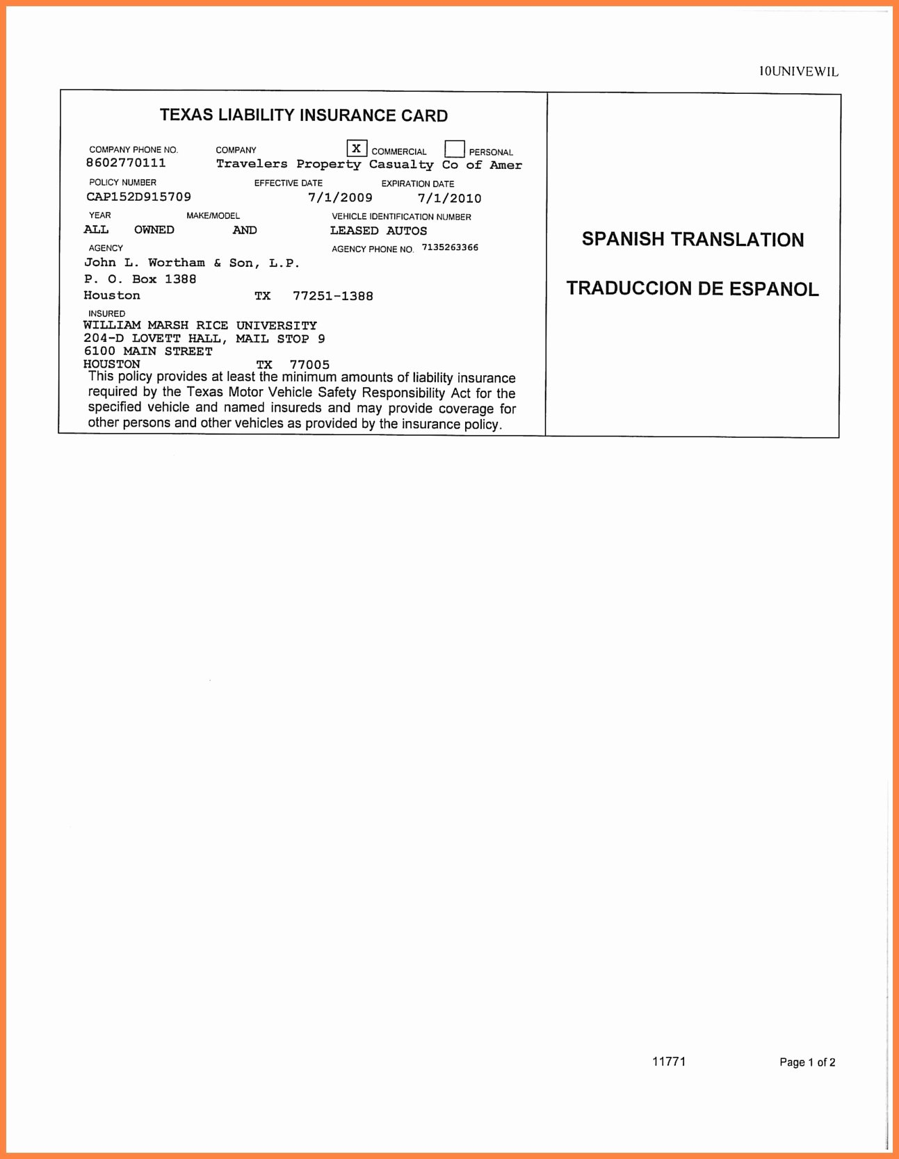 Auto Insurance Card Template Free Download Templates Data