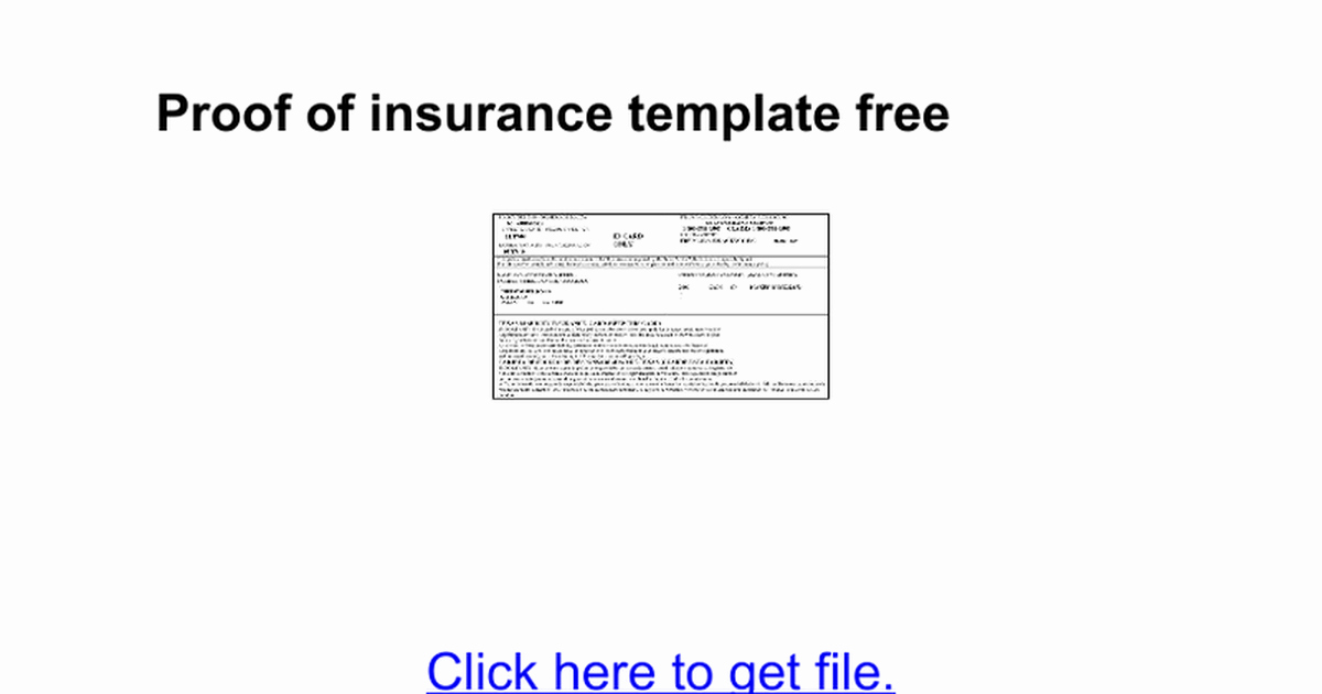 Auto Insurance Template Insurance Card Template Free Auto
