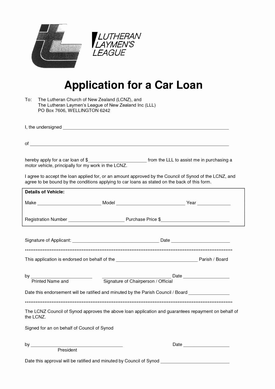 Auto Loan Creditlication form Pdf Lovely Luxury Sample