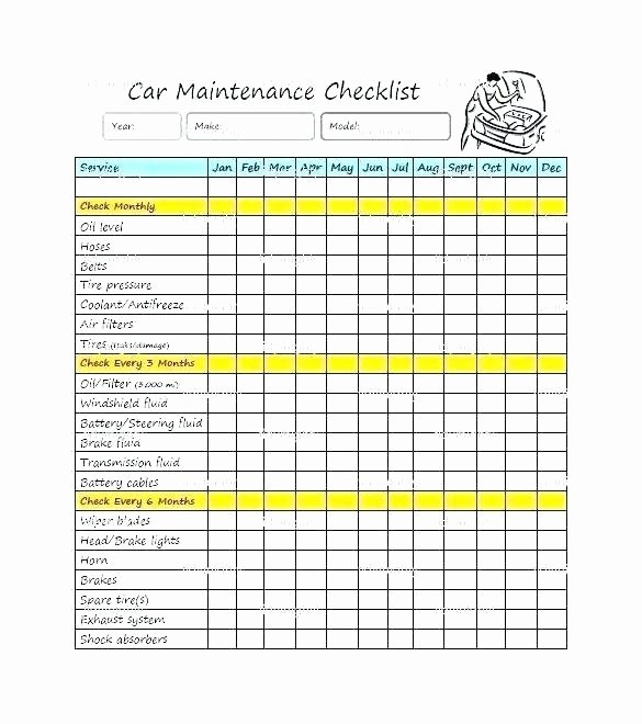 Auto Maintenance Schedule Template Tierianhenry