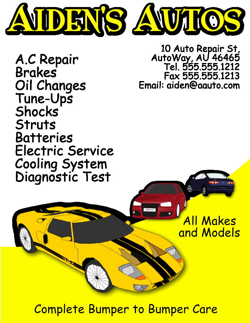 Auto Repair Flyer Template Free View R Image
