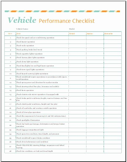 Automobile Condition Report Template for Ms Excel