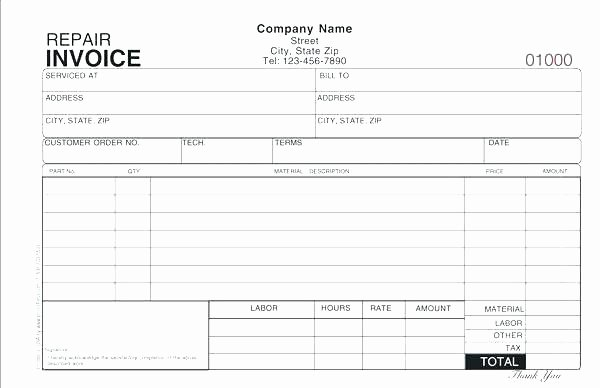 Automotive Repair order form Template Ce Free Remarkable