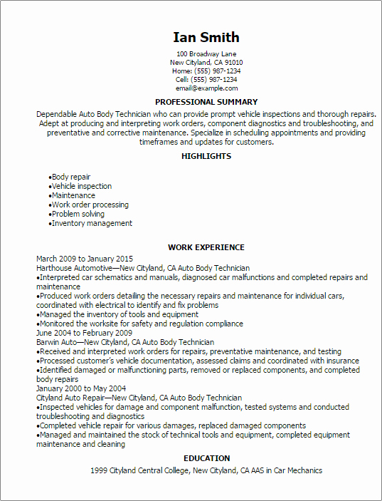 Automotive Resume Templates to Impress Any Employer