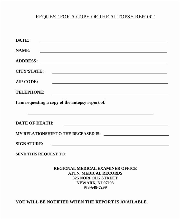 Autopsy Report Template 5 Free Word Pdf Documents