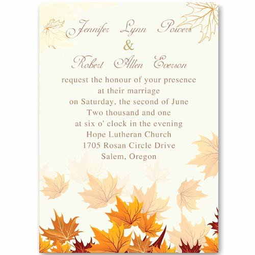 Autumn Birthday Invitations