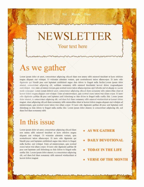 Autumn Church Newsletter