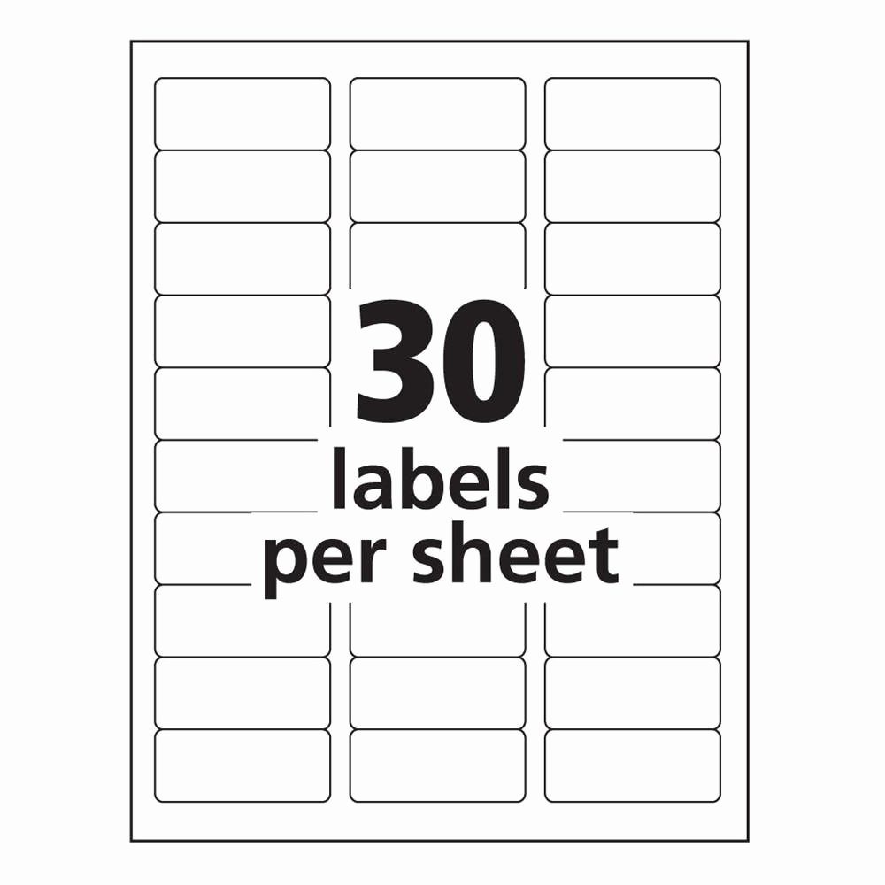 Avery 8160 Label Template Word Templates Data