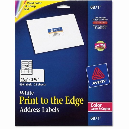 Avery Abels White Uncoated Labels 1 X 2 5 8 Rectangle