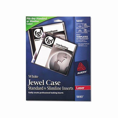 Avery Laser Cd Dvd Jewel Case Inserts Ave5693 Shoplet