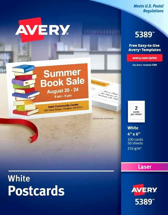 Avery Postcard Template Templates Vertical Back 8386 – Anyms