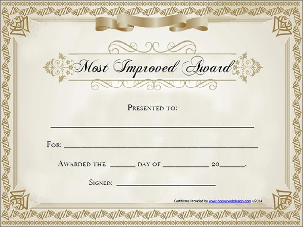 Award Certificate Templates Free Invitation Template