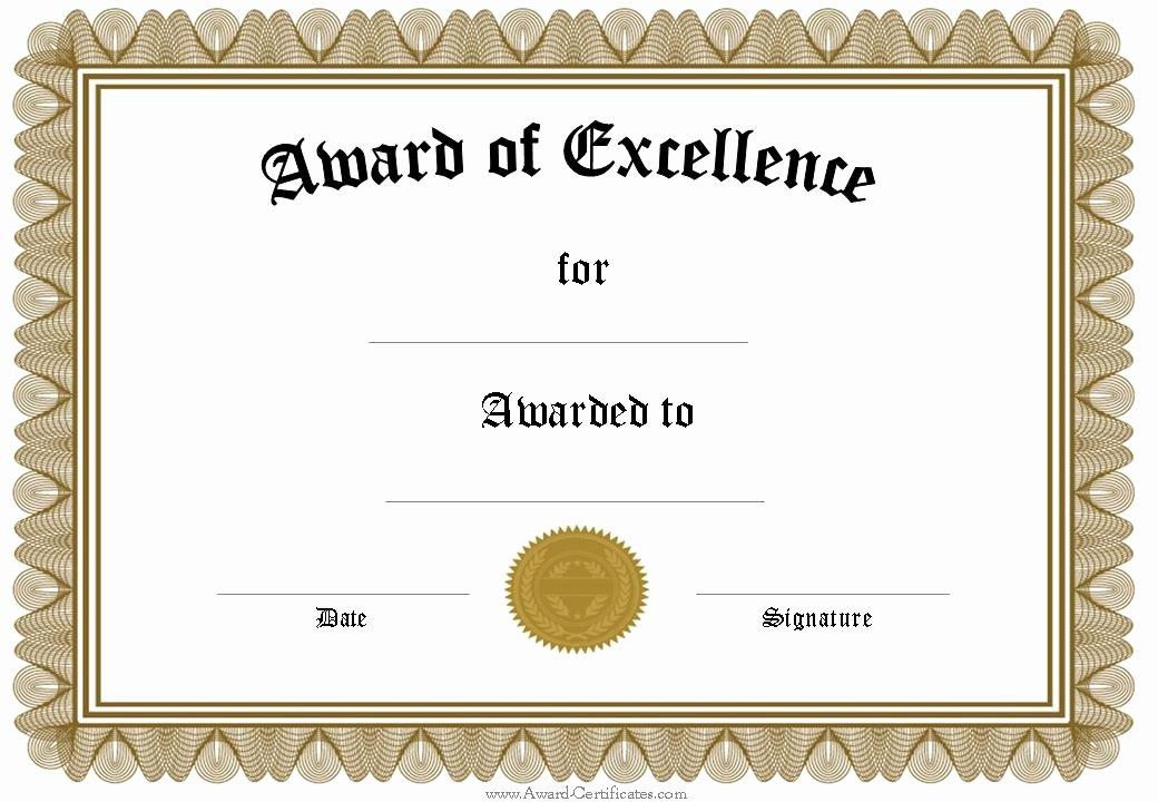 Award Certificates Pdf Blank Certificate Template Blank