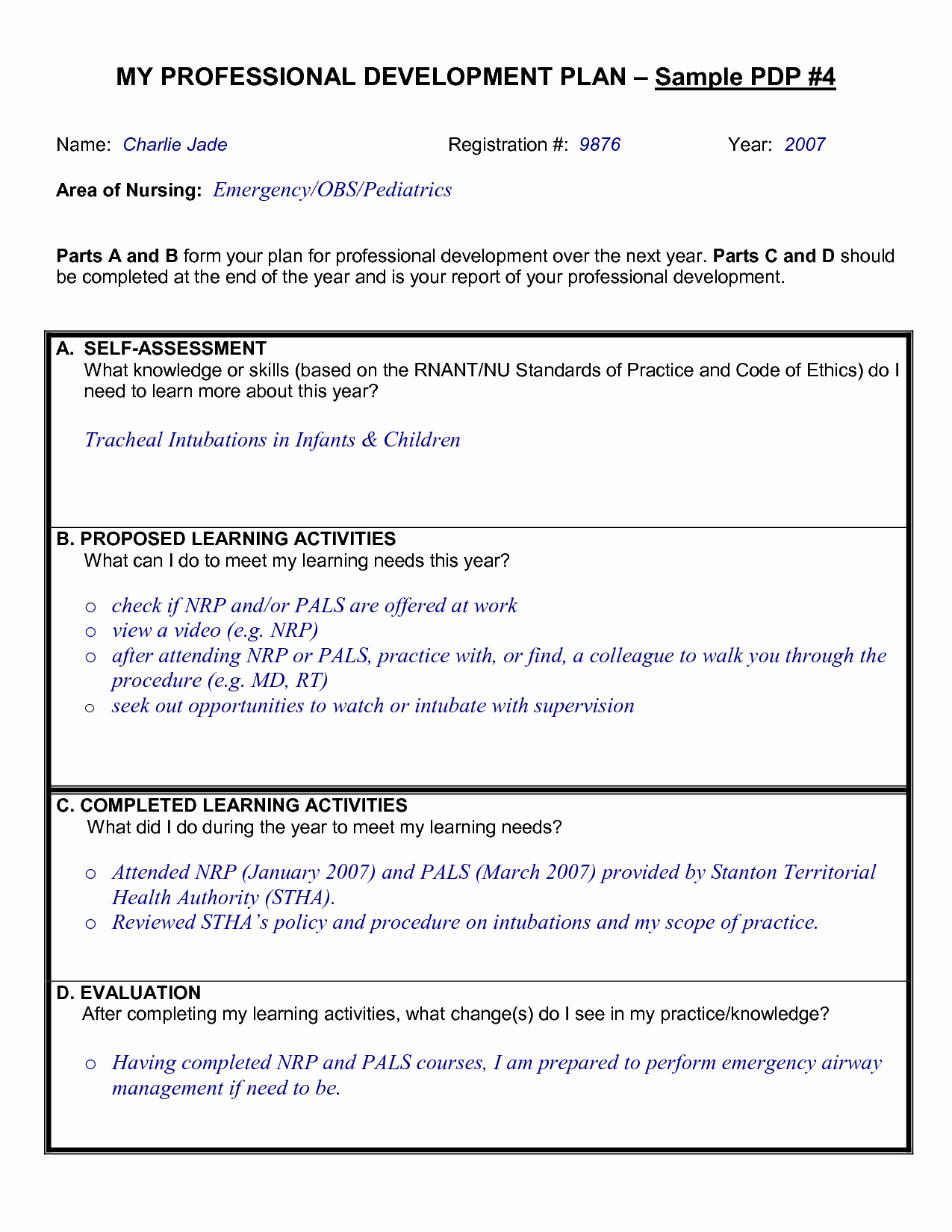 Awesome Collection Professional Development Plan