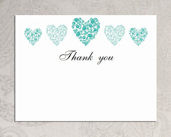 Awesome Design Wedding Thank You Card Template with