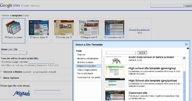 Awesome New Templates In Google Sites