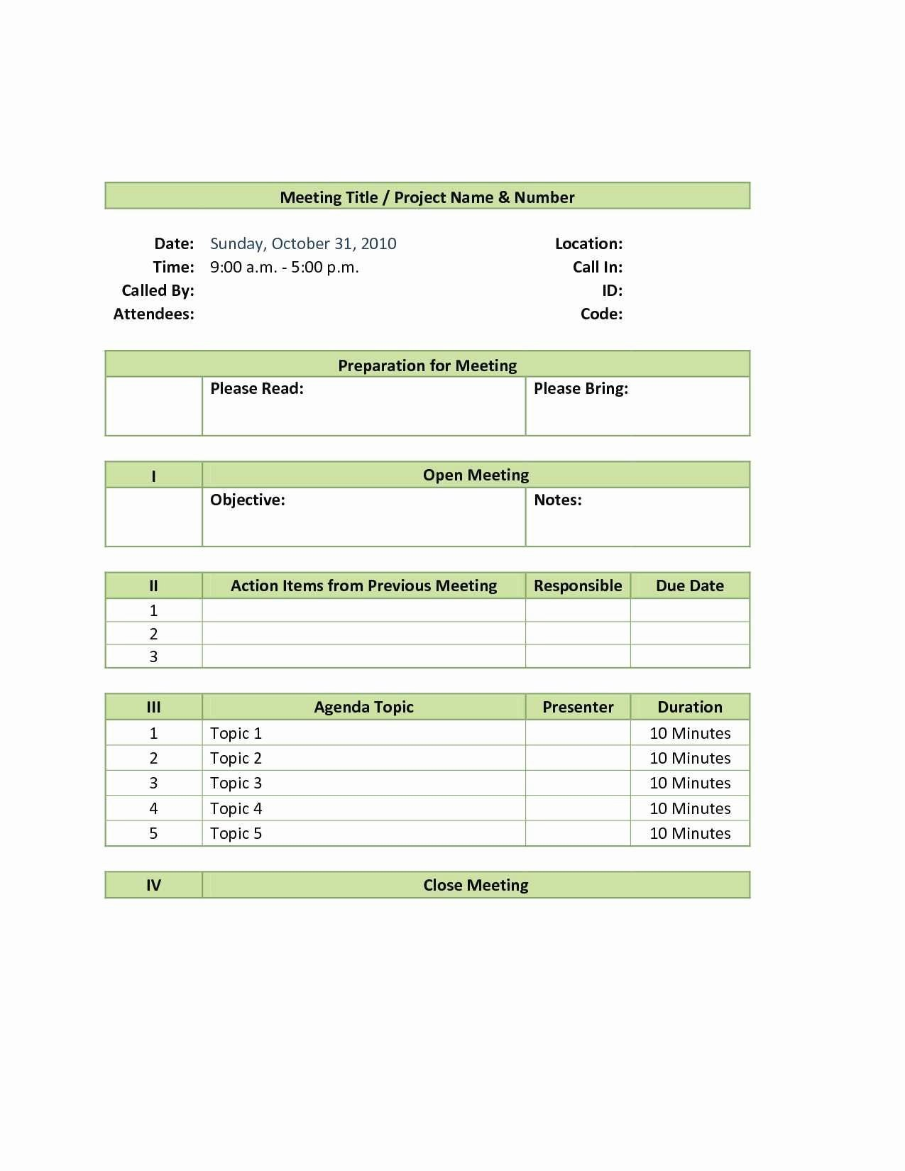 Awesome Not for Profit Board Meeting Minutes Template