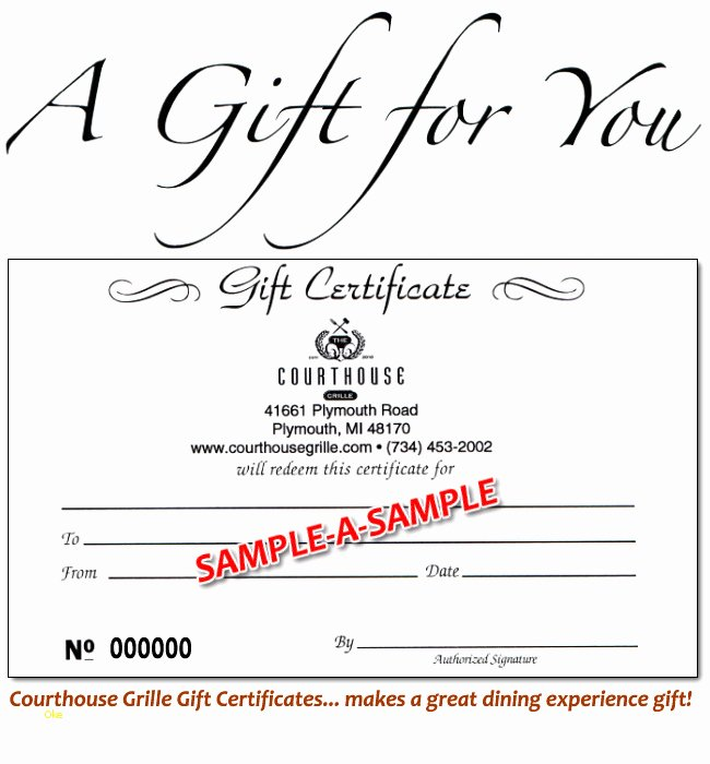 Awesome Restaurant Gift Certificate Template