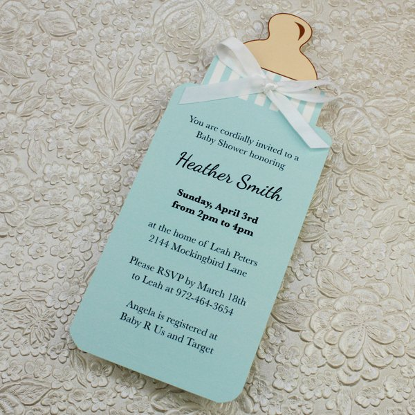 Baby Bottle Boy Shower Invitation Template – Download & Print