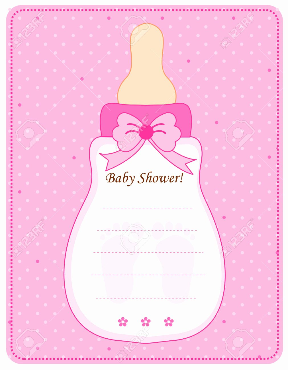 Baby Bottle Invitation Templates