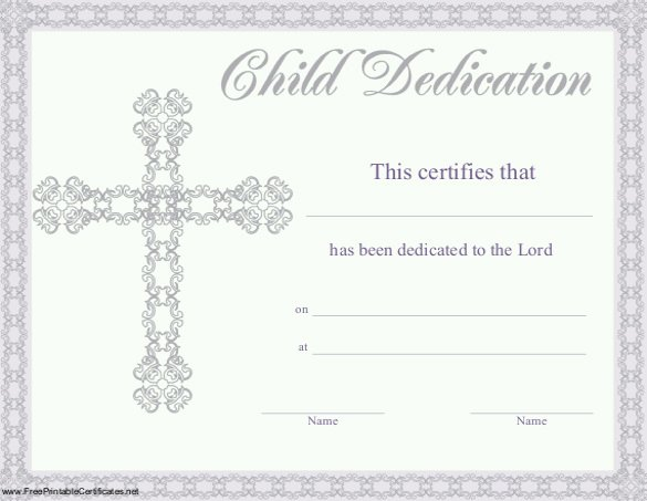Baby Dedication Certificate Template 21 Free Word Pdf