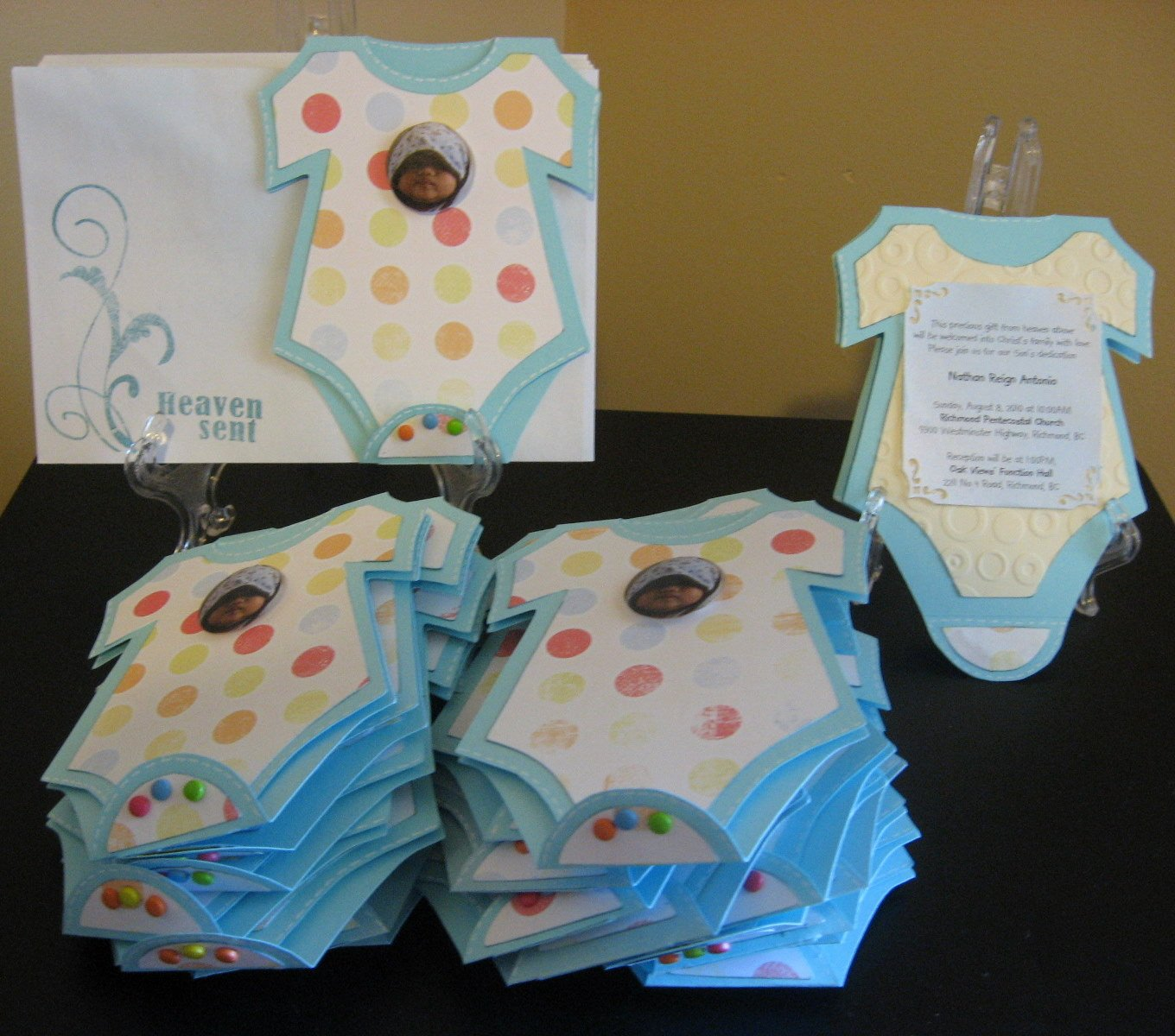 Baby Esies Invitations Template