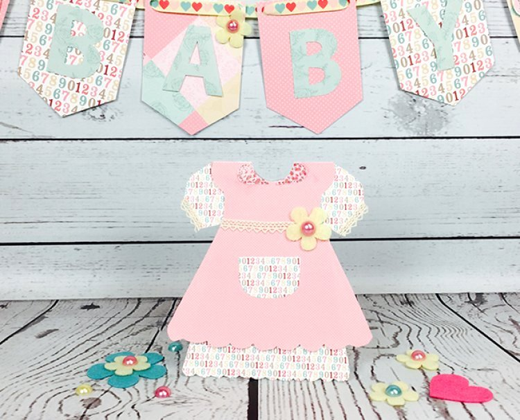 Baby Girl Dress Card Tutorials with