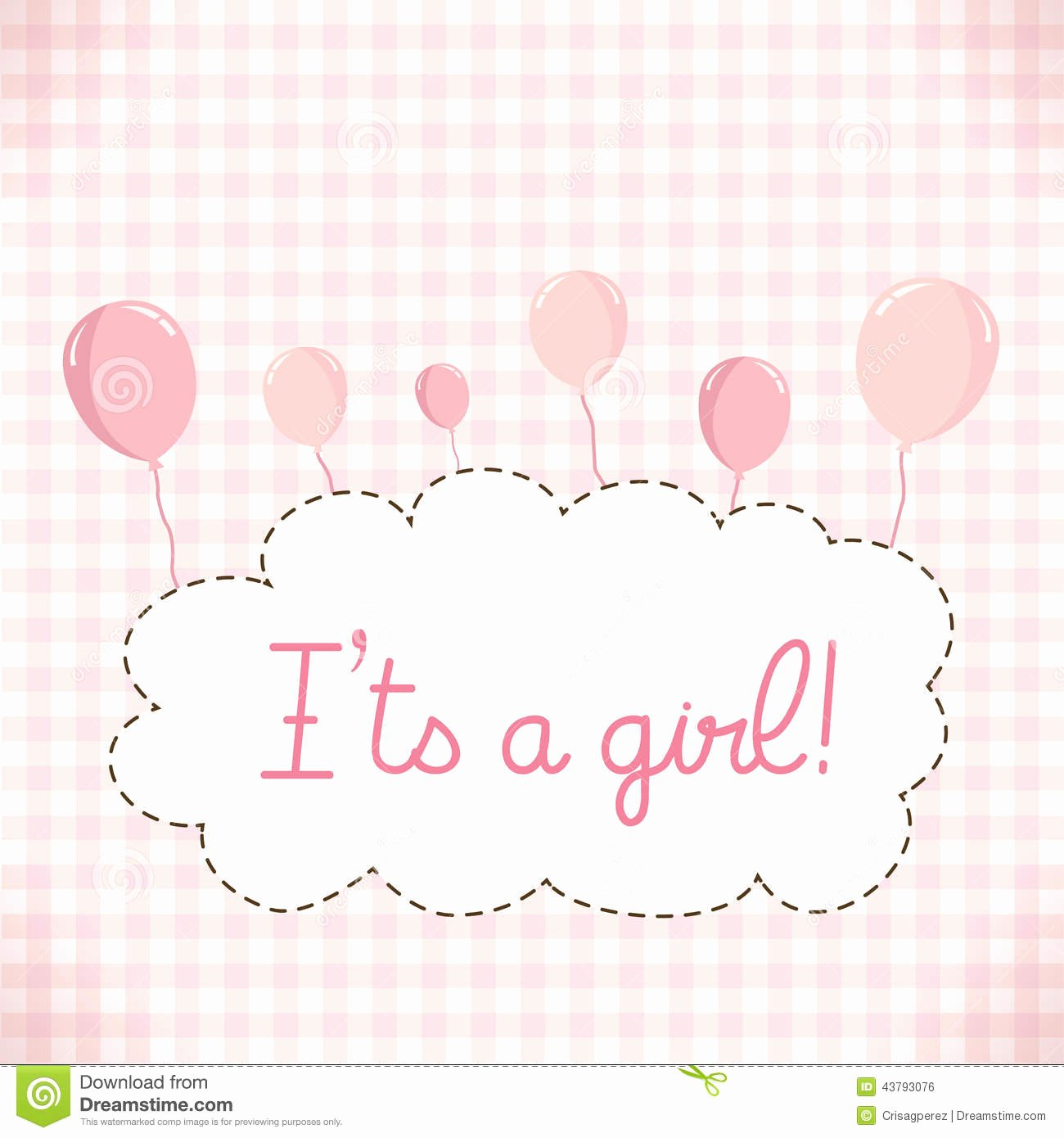 Baby Girl Invitation Templates