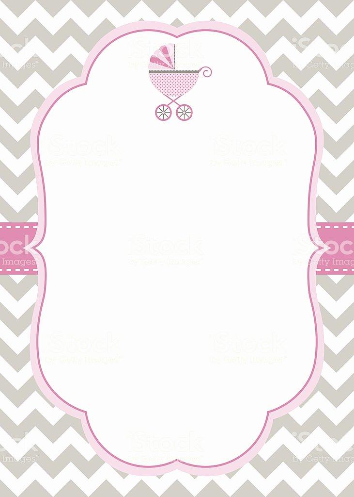Baby Girl Shower Invitation Template Stock Vector Art