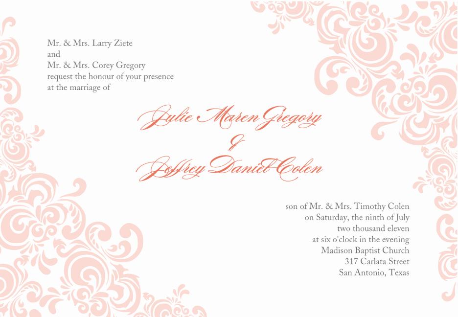 Indian Wedding Invitation Wording Template Shaadi Bazaar Latter
