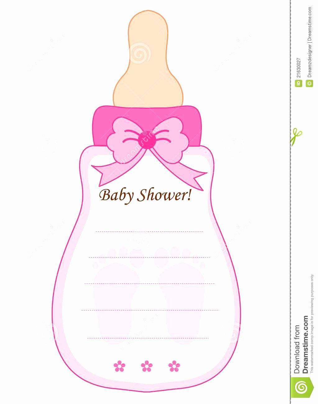 Baby Shower Card for Girls Stock Vector Illustration Of