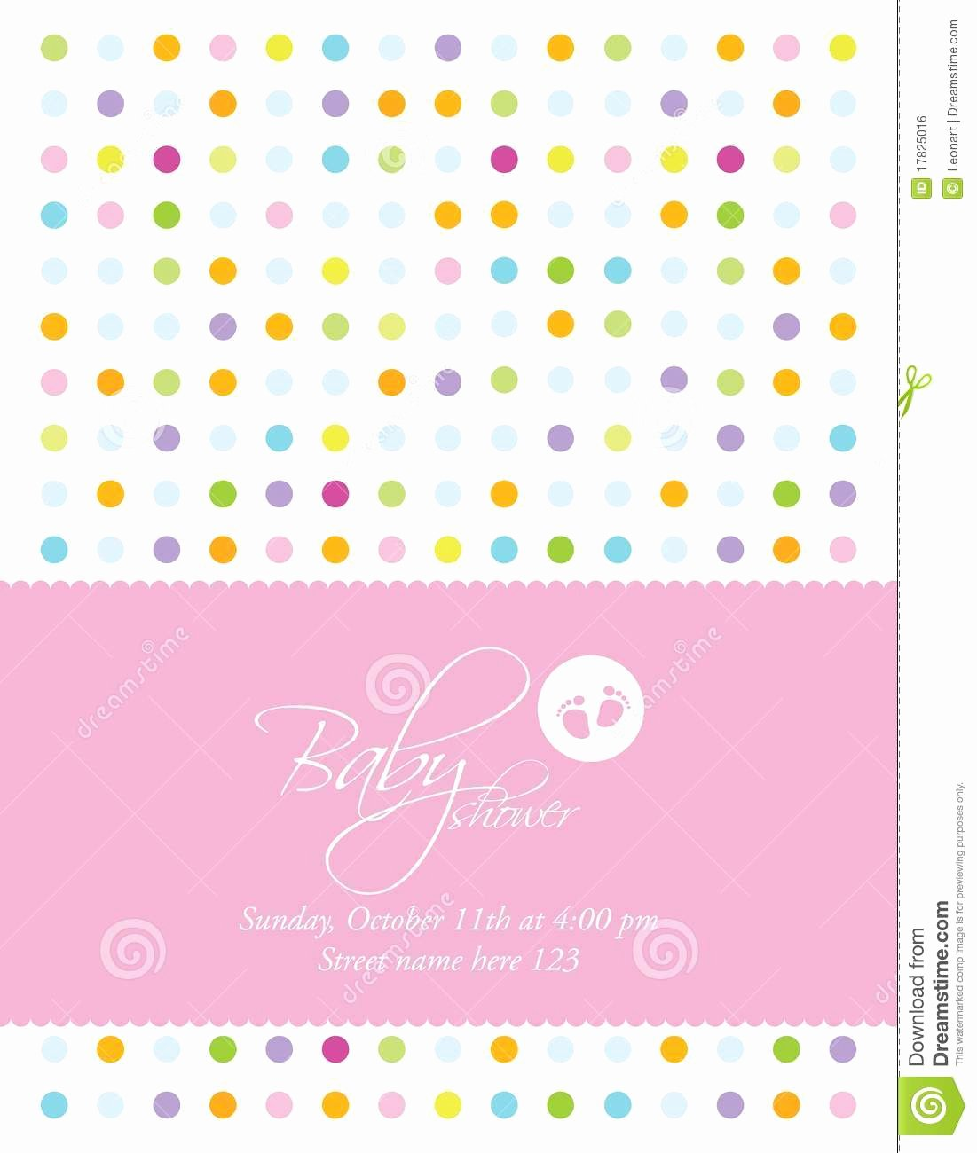 Baby Shower Card Template Royalty Free Stock Image Image