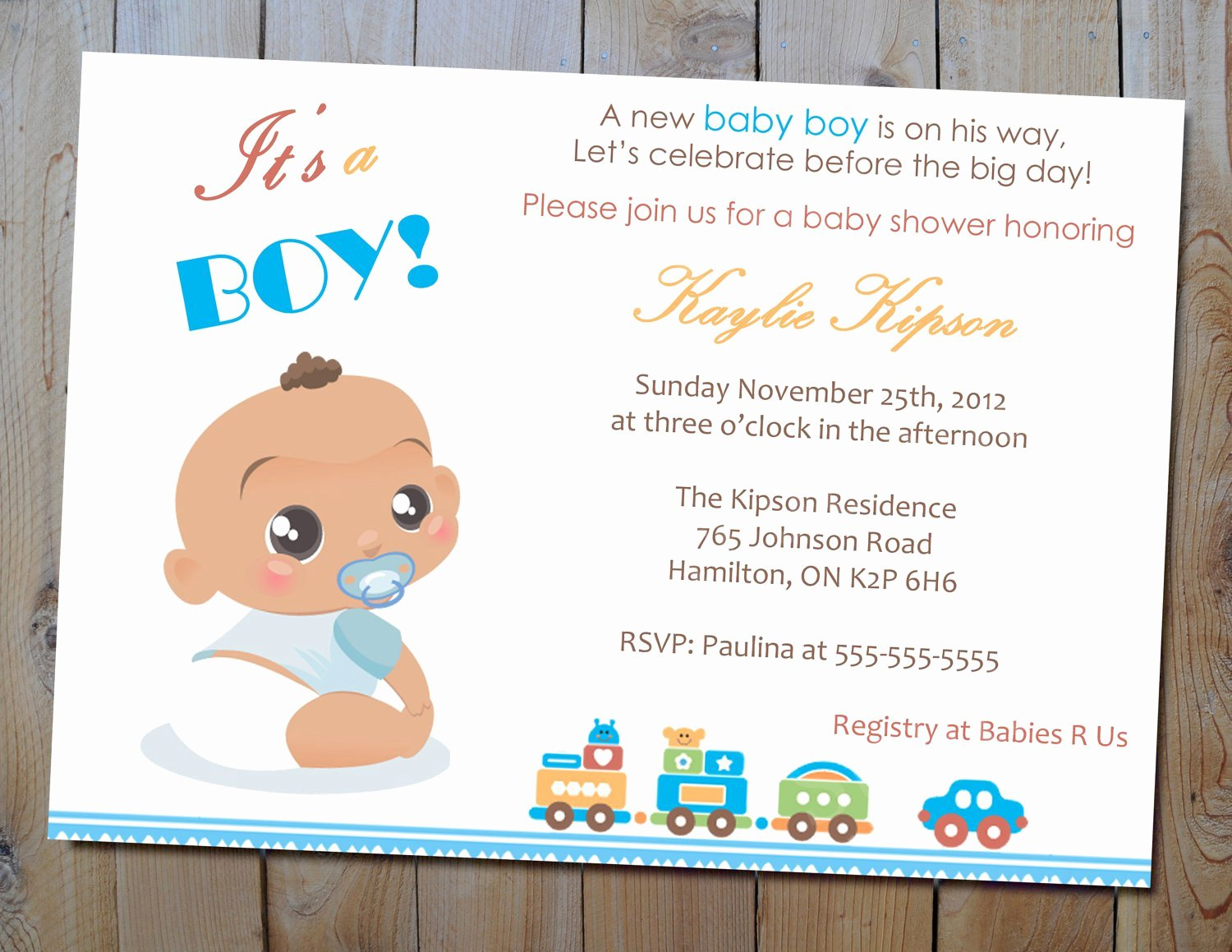 Baby Shower Invitation Baby Girl Shower Invitations