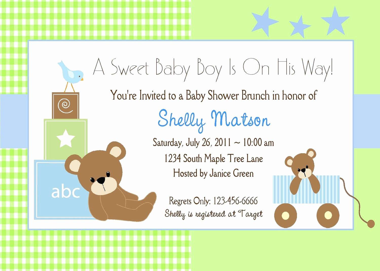 baby shower invitation templates