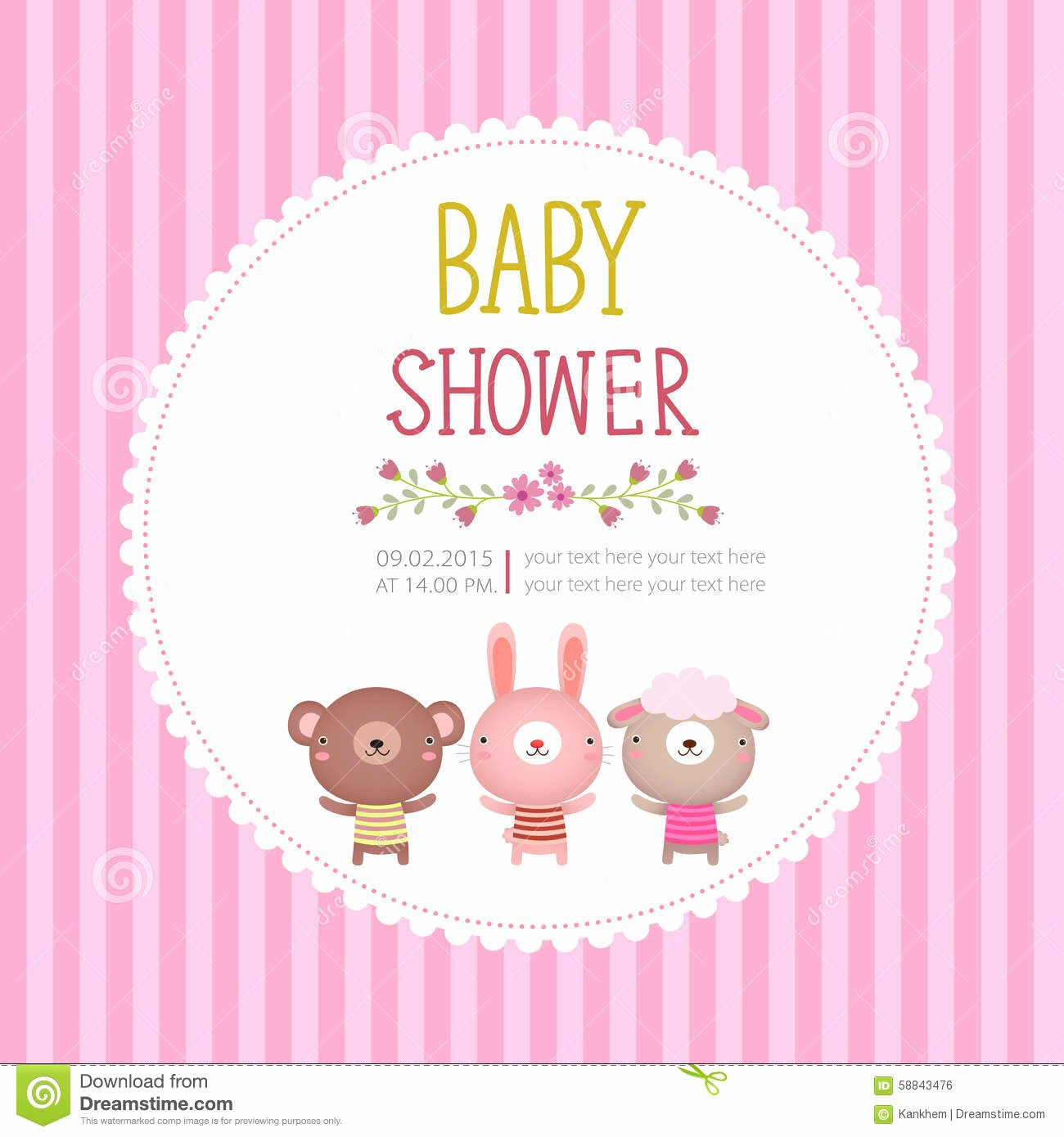 Baby Shower Invitation Card Template Free Download