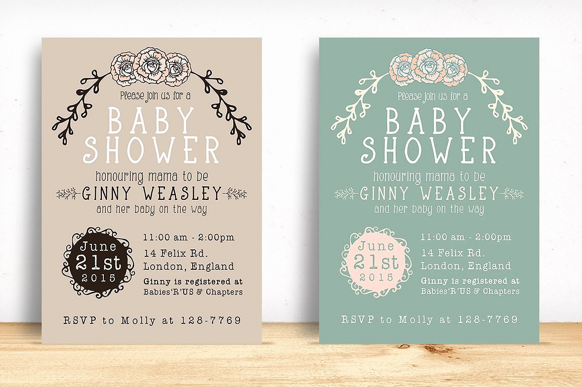 Baby Shower Invitation Invitation Templates Creative