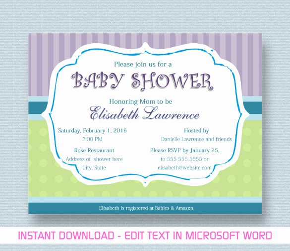 Baby Shower Invitation Template 29 Free Psd Vector Eps
