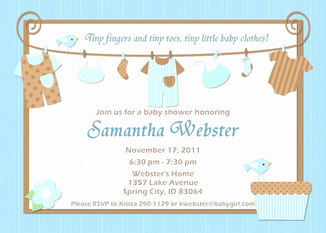 Baby Shower Invitation Templates for Word Mughals