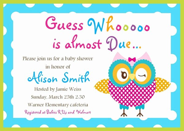 Baby Shower Invitation Templates Word