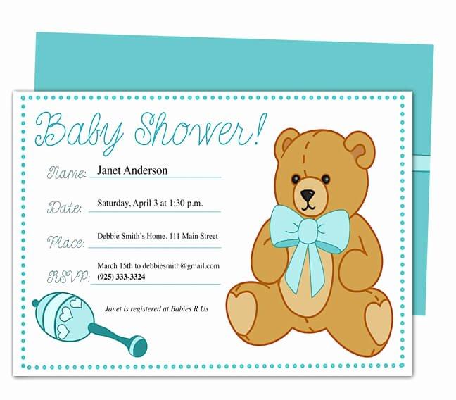 Baby Shower Invitation Templates Word