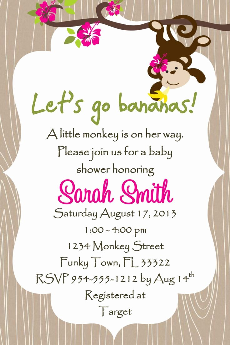 Baby Shower Invitations for A Girl Template