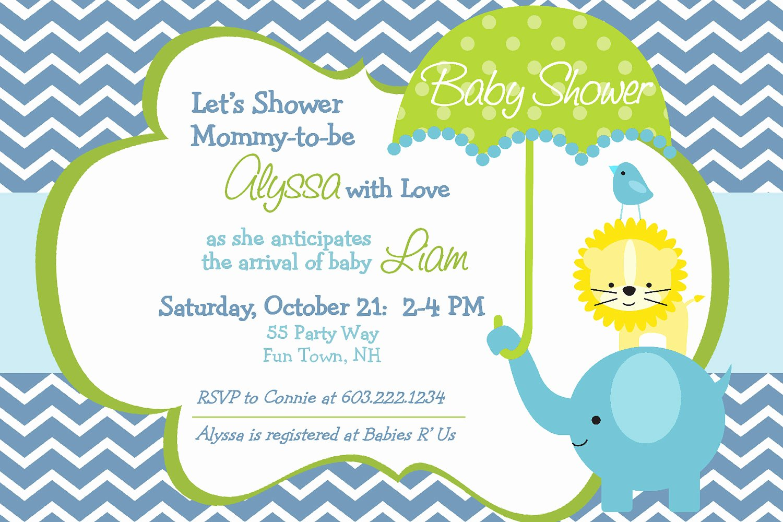 Baby Shower Invitations for Boy & Girls Baby Shower