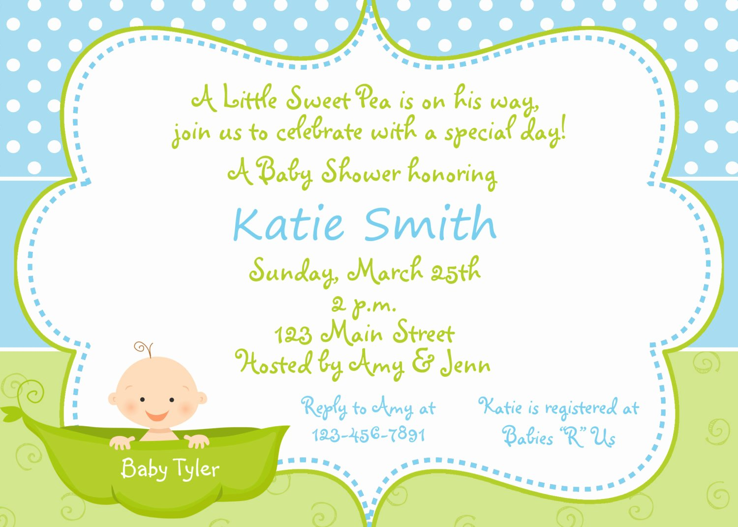 Baby Shower Invitations for Boy & Girls Baby Shower