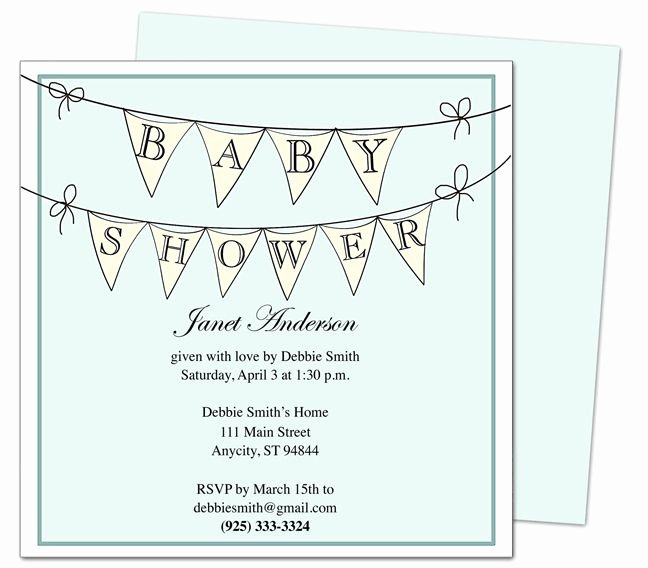 Baby Shower Invitations Pennantboy Printable Diy Shower