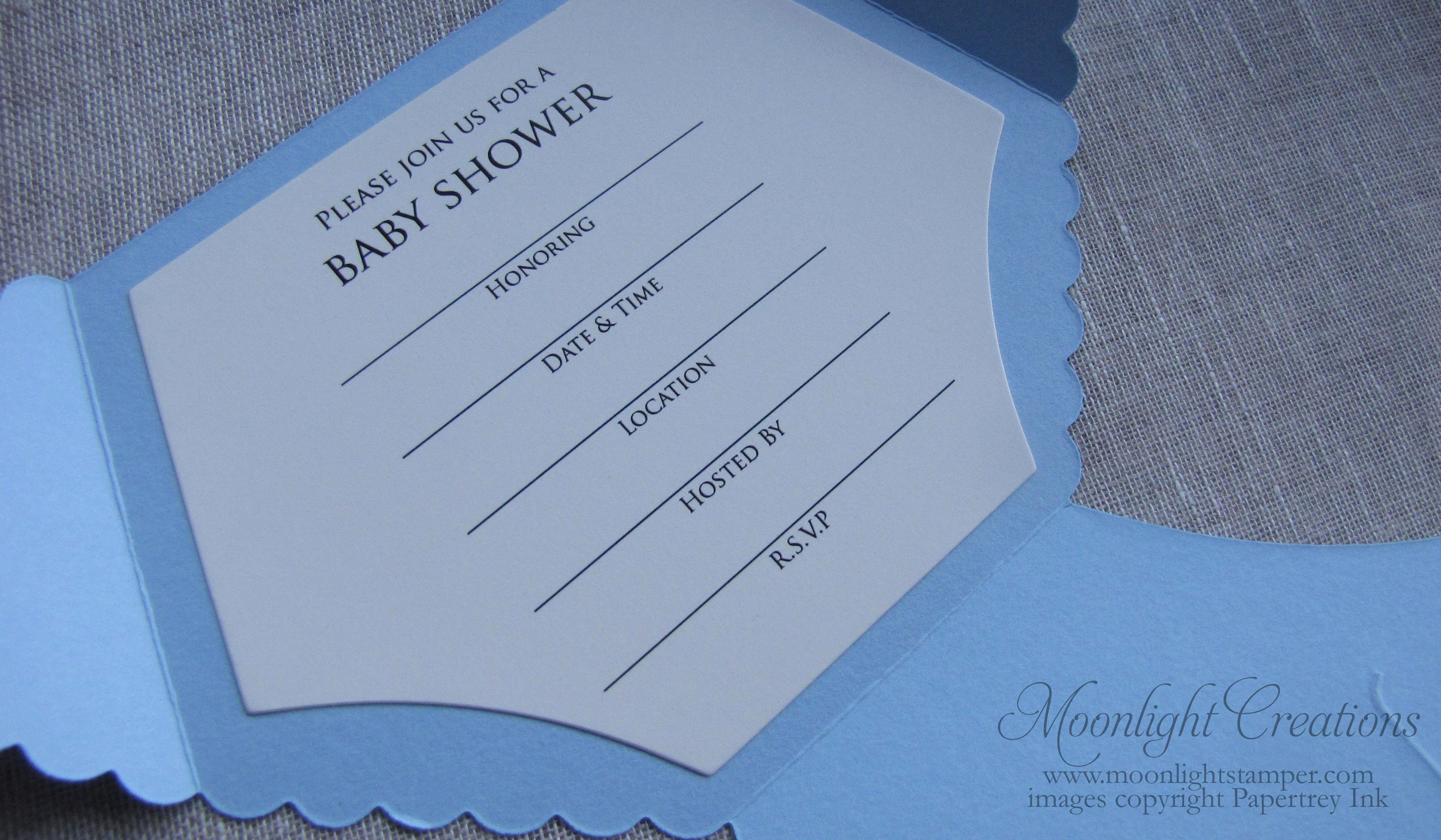 Baby Shower Invitations Printable Diaper Shaped Baby