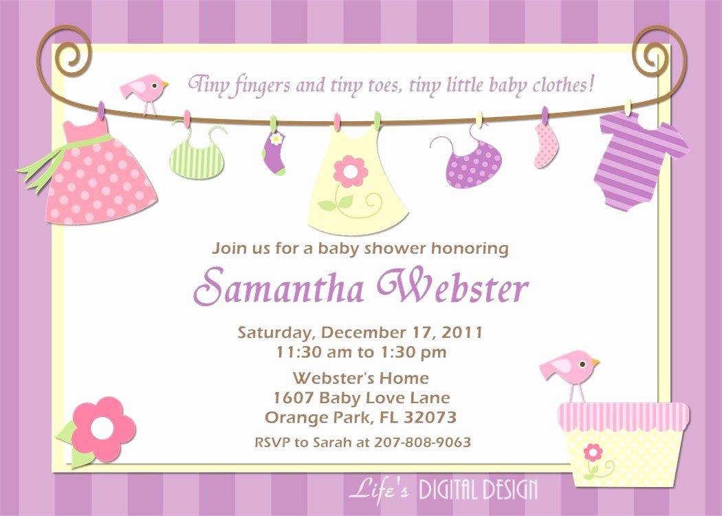 Baby Shower Invite Samples Mughals